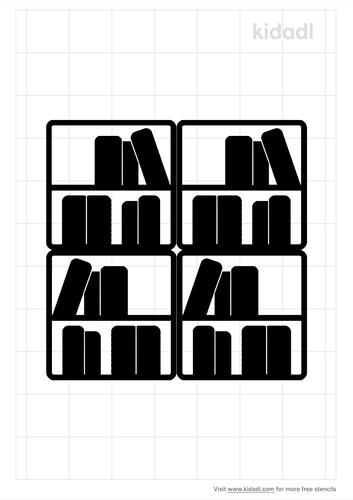 library-books-stencil