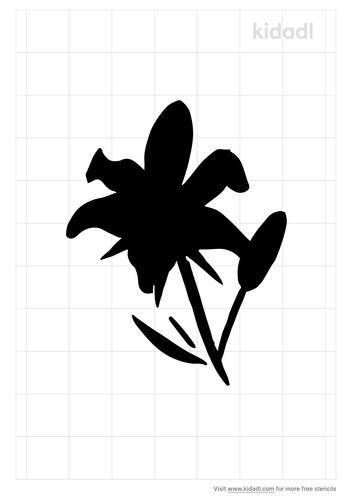 lily-stencil