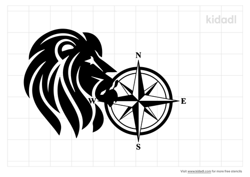lion-compass-t-stencil