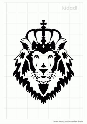 lion-crown-simple-stencil