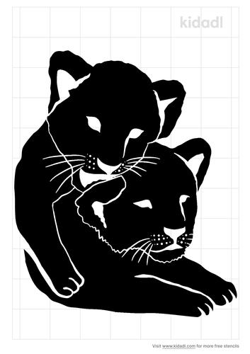 lion-cubs-stencil