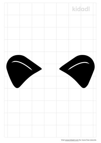lion-ears-stencil