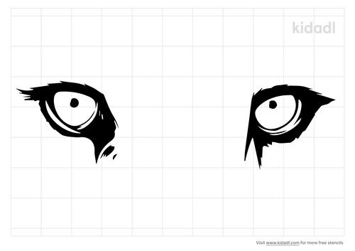 lion-eyes-stencil