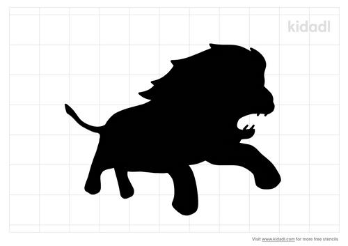lion-in-mid-attack-stencil