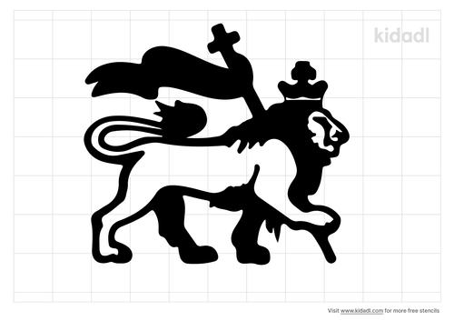 lion-of-judah-stencil