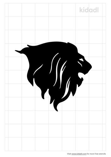 lion-side-profile-stencil