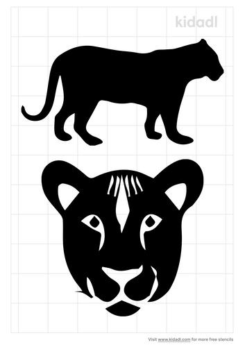 lioness-stencil