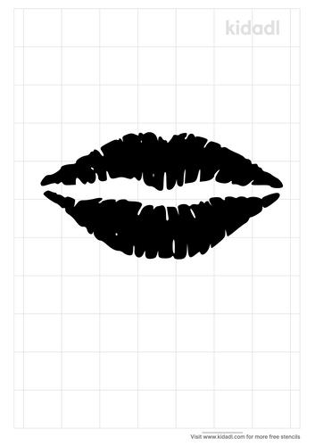 lips-kiss-stencil