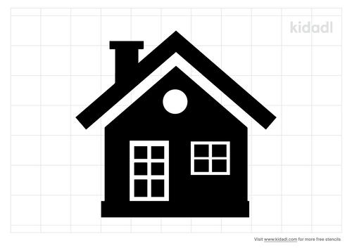 little-house-stencil