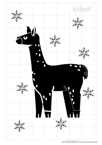llama-stencil-christmas