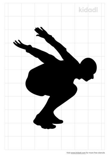 long-jump-drawings-stencil