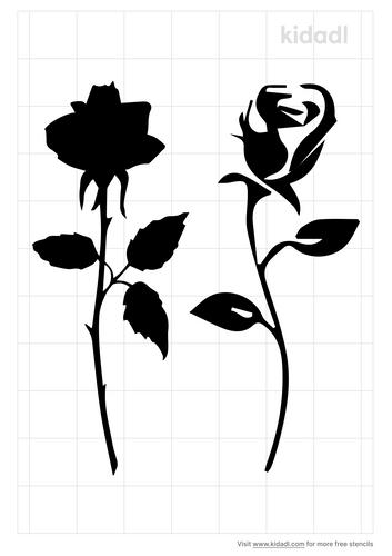 long-stem-rose-stencil
