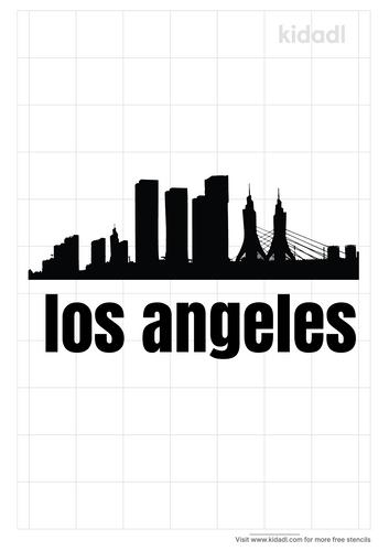 los-angeles-skyline-stencil