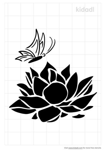 lotus-butterfly-stencil