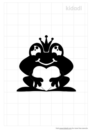love-frog-stencil