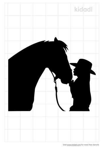 love-on-horse-stencil