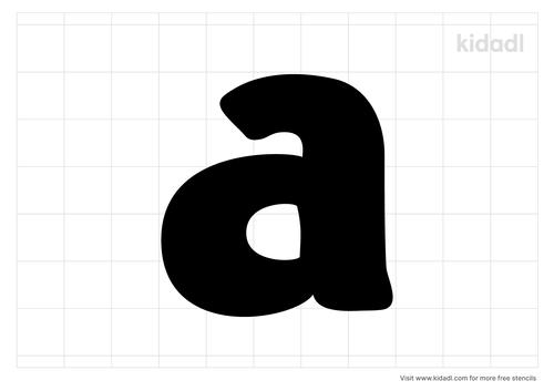 lower-case-a-stencil