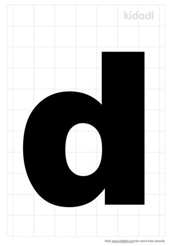 lowercase-d-stencil