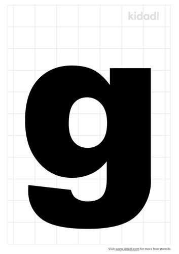 lowercase-g-stencil