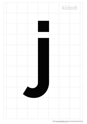 lowercase-j-stencil