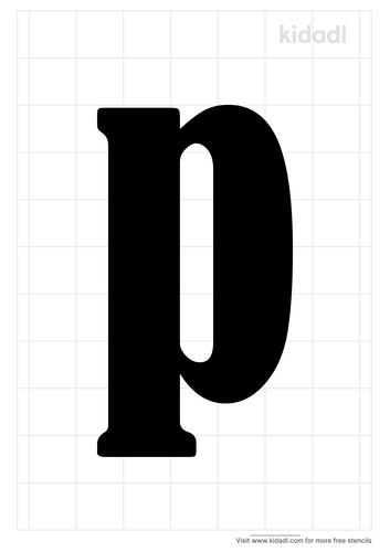 lowercase-p-stencil