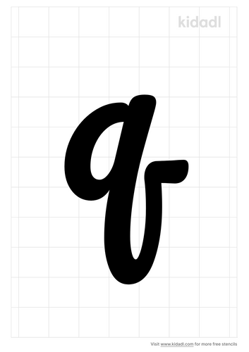 lowercase-q-stencil