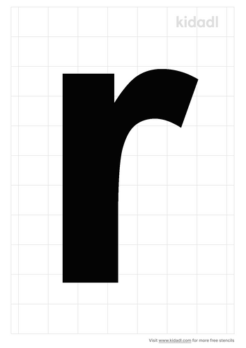 lowercase-r-stencil