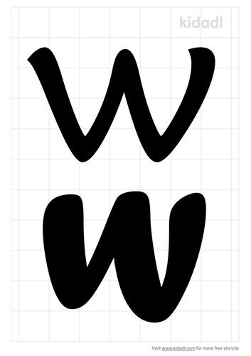 lowercase-w-stencil