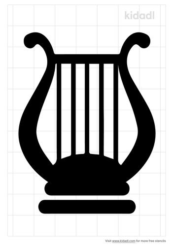 lyre-stencil
