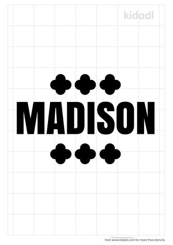 madison-name-stencil