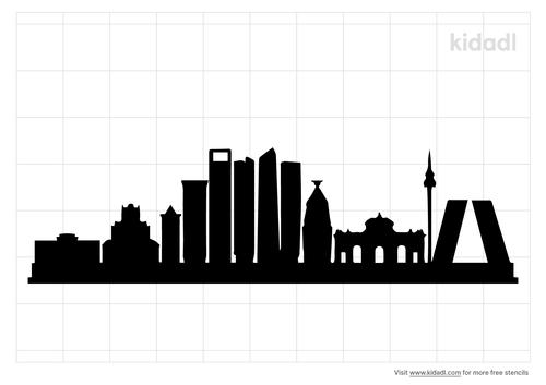 madrid-spain-skyline-stencil