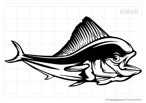 mahi-mahi-fish-stencil