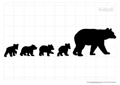 mama-bear-with-four-cubs-stencil.png