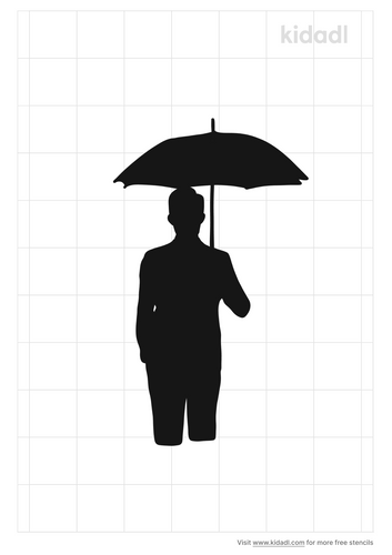 man-holding-umbrella-stencil