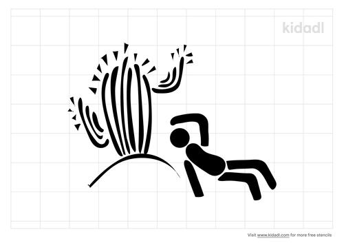 man-lying-under-cactus-stencil