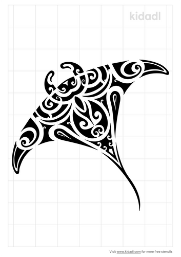 manta-ray-stencil