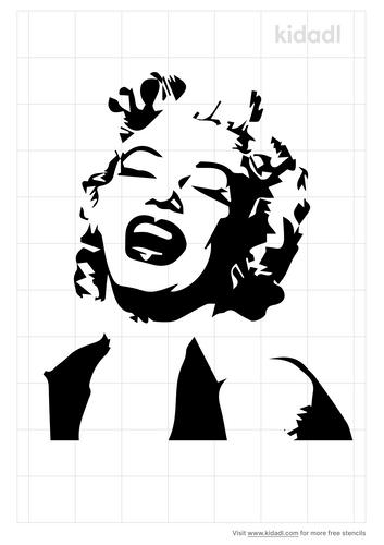 marilyn-monroe-laughing-stencil