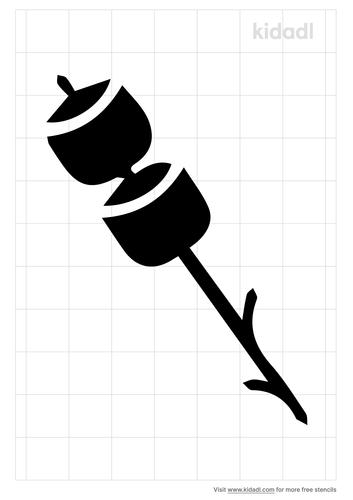 marshmallow-on-a-stick-stencil