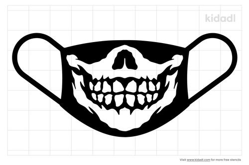 mask-bottom-skull-stencils