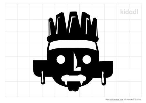 mayan-illustration-stencil