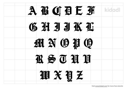 medieval-alphabet-stencil