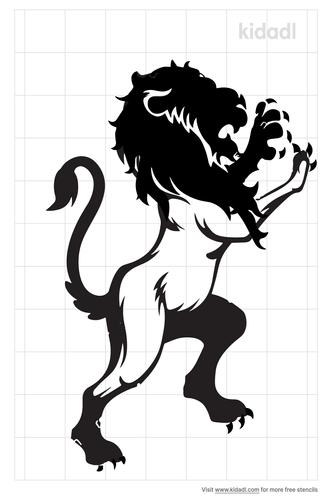 medieval-lion-stencil