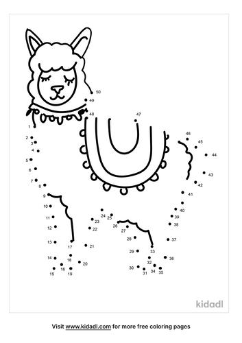 medium-alpaca-dot-to-dot