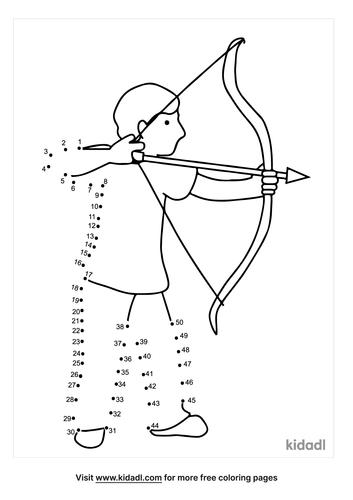 medium-bow-and-arrow-dot-to-dot