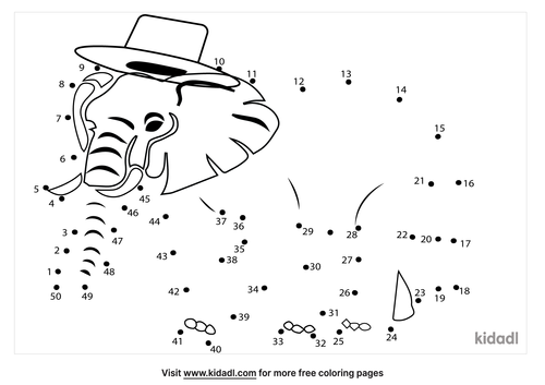 medium-elephant-with-a-top-hat-dot-to-dot