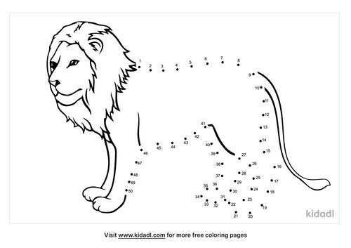 medium-lion-dot-to-dot