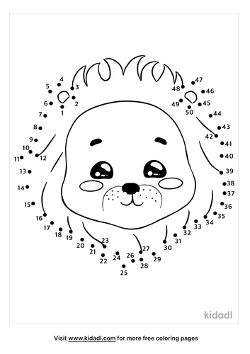 medium-lion-head-dot-to-dot