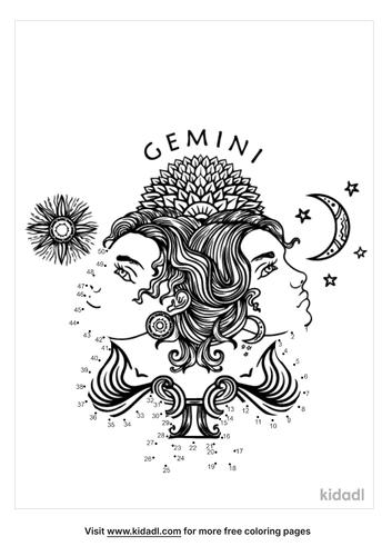 medium-zodiac-gemini-dot-to-dot