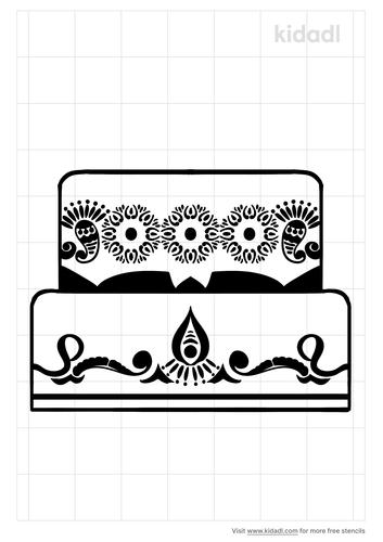 mehendi-cake-stencil