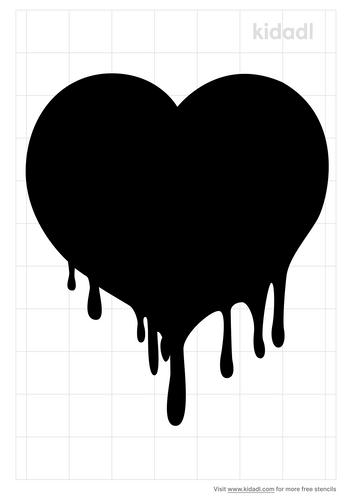 melting-heart-stencil